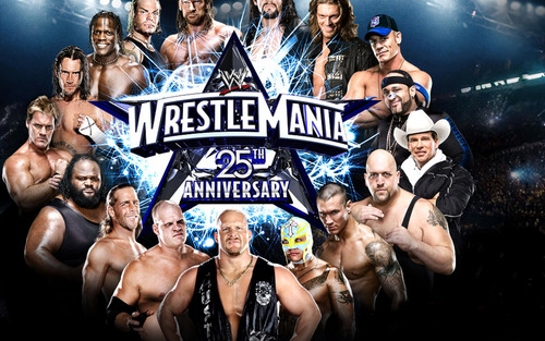 Wrestlemania 25th Anniversary - wwe Wallpaper