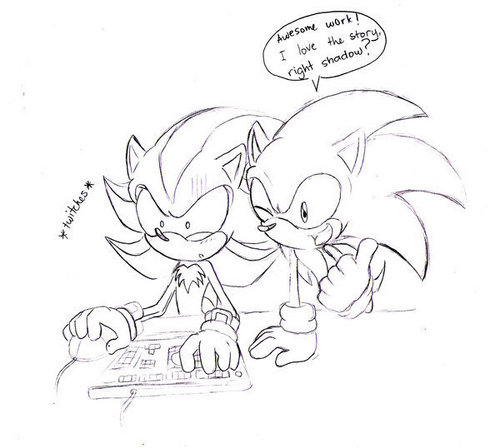 lolz after reading a Sonadow story - sonadow Photo