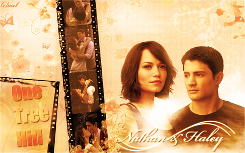 nathan & haley پیپر وال