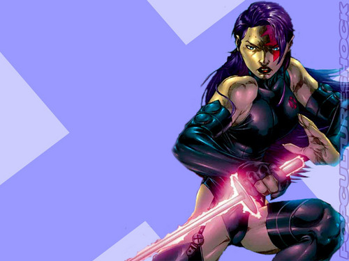 X Men Women Wallpaper Probably Containing A Hip Boot Titled Psylocke