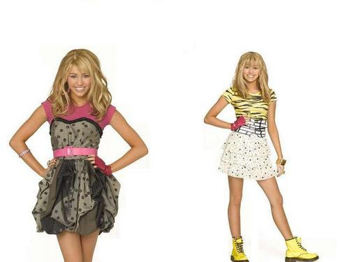 Hannah Montana wallpaper possibly containing a cocktail dress, a chemise, and a frock called smileymiley