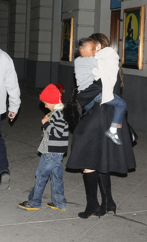 Angelina With The Kids in NY