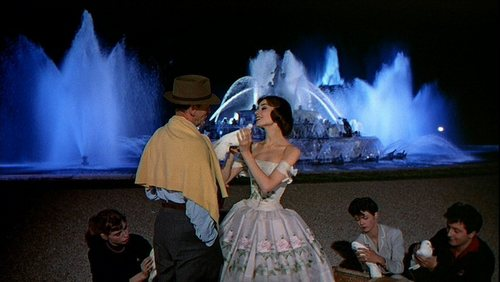 Audrey Hepburn wallpaper with a fountain titled Audrey in 'Funny Face'