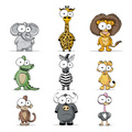 Cartoon animals - animals photo