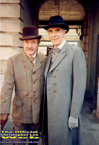Christopher Lee and Patrick MacNee