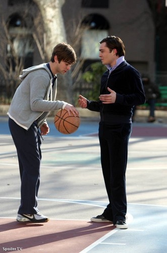 Chuck and Nate - on set 2.23.09