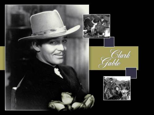 sinema bora karatasi la kupamba ukuta with a snap brim hat, a campaign hat, and a fedora called Clark Gable