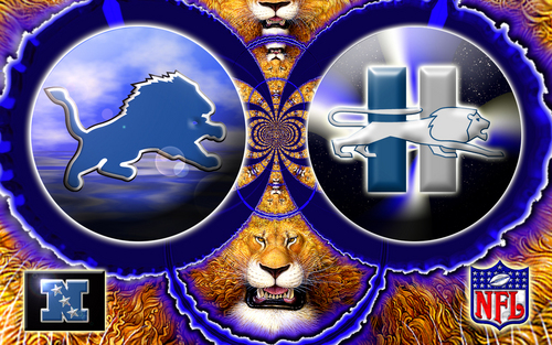 NFL wallpaper probably containing a fleur de lis and a roulette wheel titled Detroit Lions