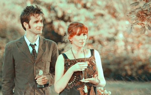 doctor who wallpaper probably containing a well dressed person titled Doctor & Donna Header