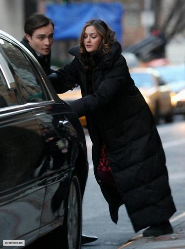 Ed & Leighton on the set
