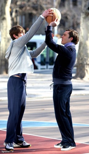 Ed and Chace on the set