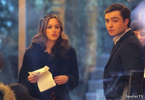 Ed and Leighton filming