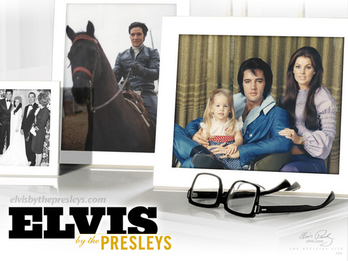 এলভিস প্রিসলি দেওয়ালপত্র probably containing a sign, a living room, and a family room entitled Elvis Presley Memories