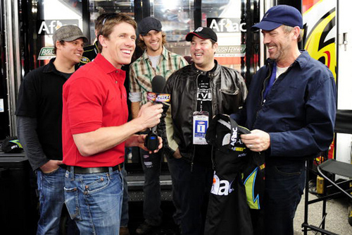 HUGH AT NASCAR NEXTER CUP RACE AUTOCLUB 500