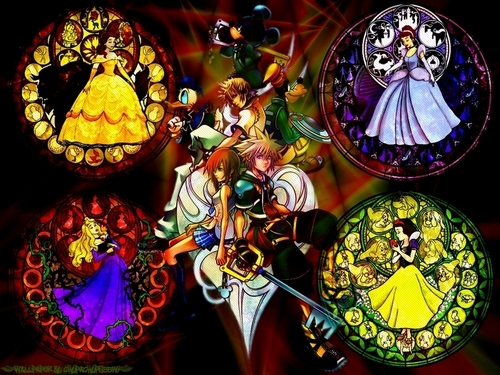 Kingdom Hearts 2 fond d'écran probably containing a stained glass window entitled KH2