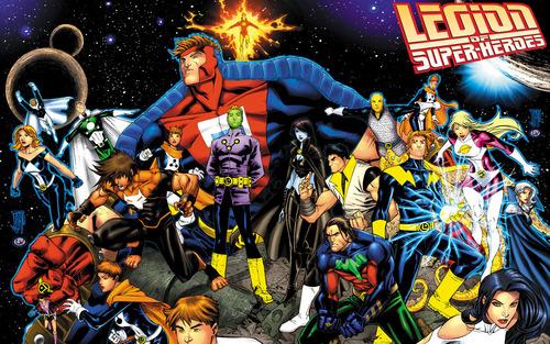 दी सी कॉमिक्स वॉलपेपर containing ऐनीमे entitled Legion_of_Super_Heroes