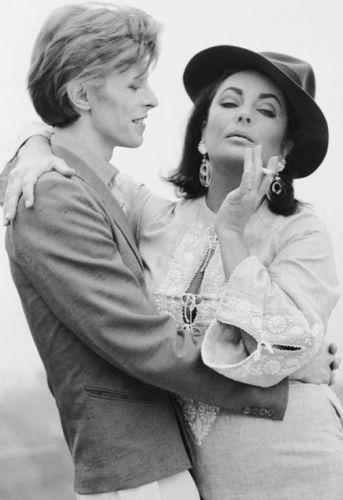 Liz with Bowie