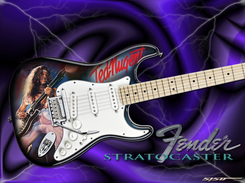Ted Nugent wallpaper entitled Nugent Strat
