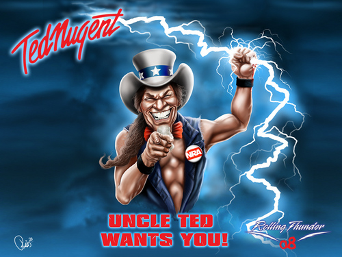 Ted Nugent wallpaper possibly with anime called Nugent Wallpaper