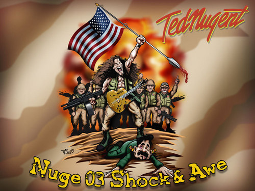 Ted Nugent wallpaper containing anime titled Nugent Wallpaper