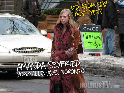 On set of 'Chloe'