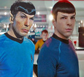 Original Spock and New Spock!