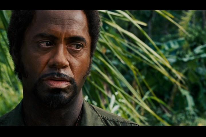 Robert Downey Jr  Robert in  Tropic Thunder Robert Downey Jr Blackface
