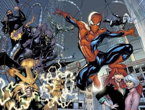 Spider-Man vs. Vulture, Doc Ock, Electro & Green Goblin