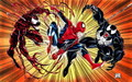 Spidey vs. Carnage and Venom - spider-man-villains fan art