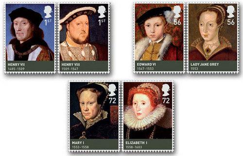 Tudors Postal Stamps