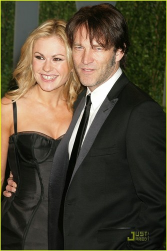 anna paquin and stephen moyer at the Fair Oscar Party - true-blood Photo