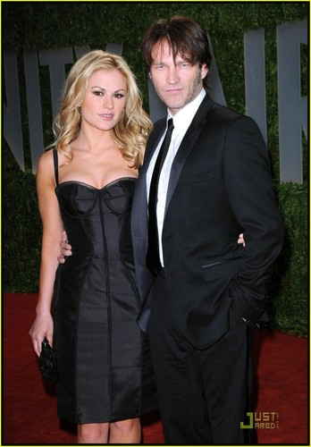 anna paquin and stephen moyer at the Fair Oscar Party