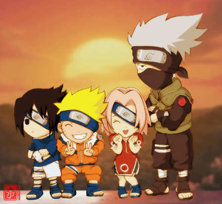 Naruto Shippuuden wallpaper called chibi team 7