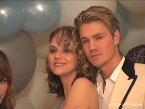 Chad and Hilarie Hintergrund probably containing a spatel, spachtel titled chilarie