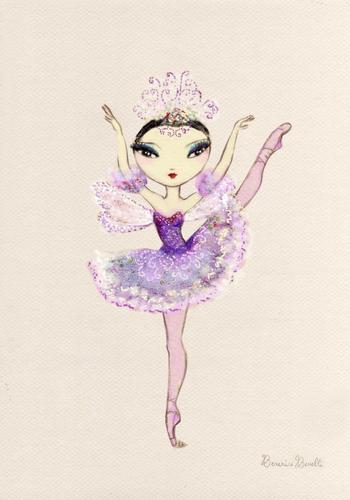 বেগুনি fairy