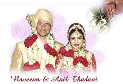 raveena tandon wedding