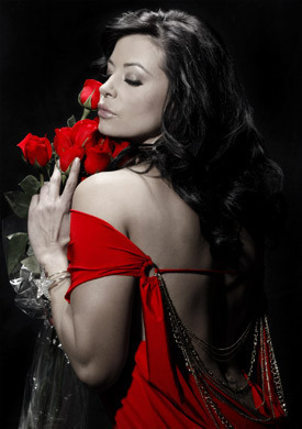 Candice Michelle پیپر وال probably containing a bouquet entitled With Love - Candice Michelle