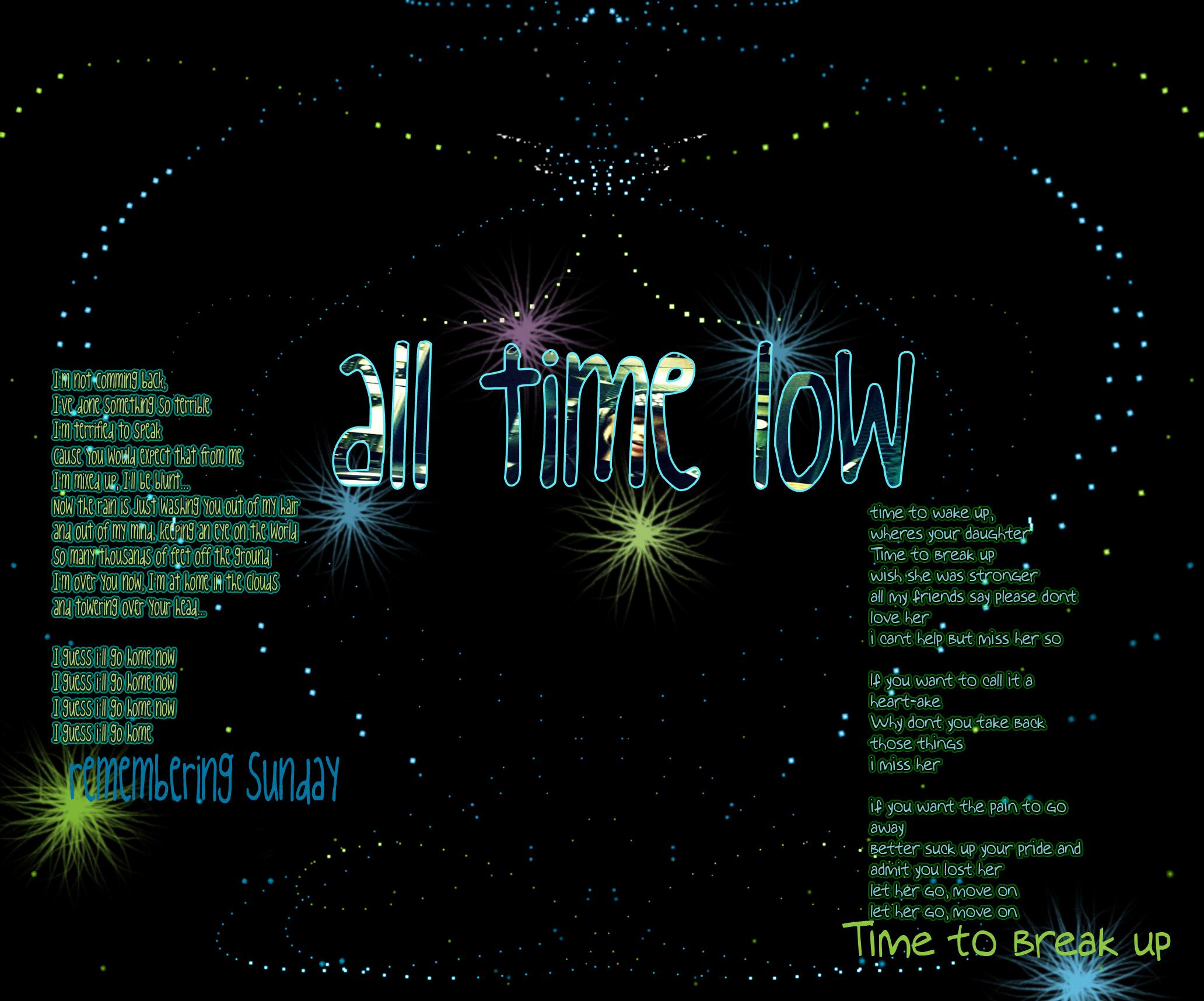 All time low lyrics
