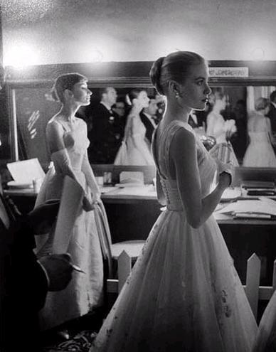 Aurdry Hepburn and Grace kelly