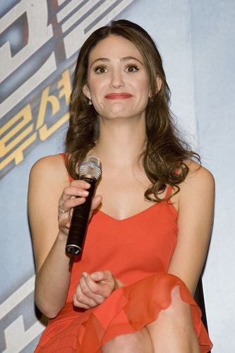 Emmy at Dragonball press conference