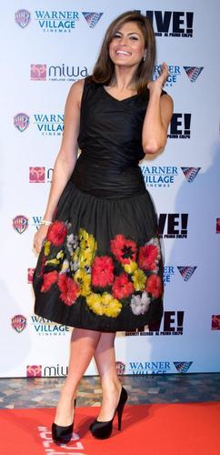 Eva At Live Premiere In Rome.