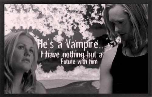 He's a vampire...