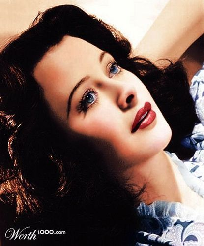 Hedy Lamar (colorized)