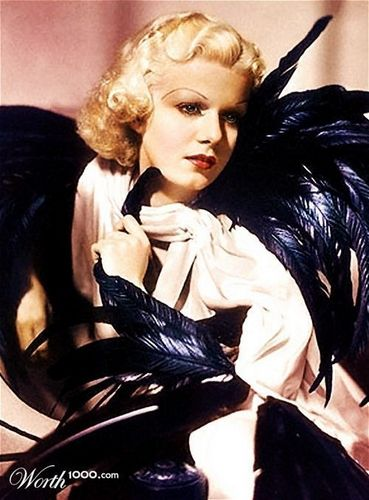 Jean Harlow (colorized)