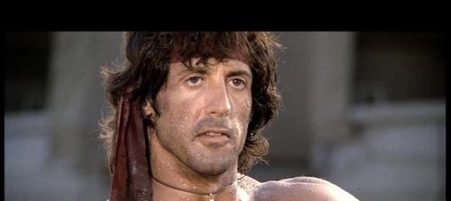 Action Films fondo de pantalla with a portrait titled John Rambo