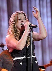 Kelly Clarkson in February 2009