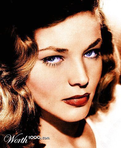 Classic Movies wallpaper with a portrait entitled Lauren Bacall (colorized)