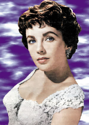Elizabeth Taylor karatasi la kupamba ukuta probably containing a portrait titled Liz Taylor
