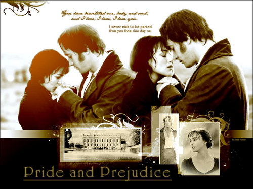 Pride and Prejudice wallpaper probably with a newspaper and a sign titled Lizzie & Darcy