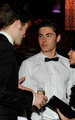 Robert Pattinson speaking with Zac Efron and Vanessa Hudgens at the 81st Academy Awards - twilight-series photo